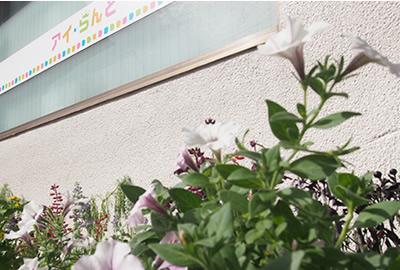 施設前の花壇